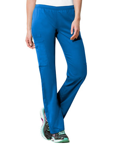 Cherokee Mid-Rise Straight Leg Pants-ROYAL BLUE-X-Small