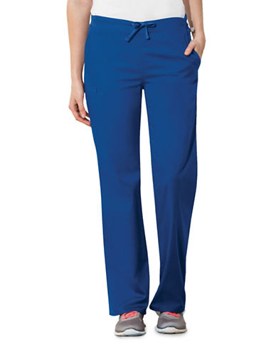 Cherokee Natural-Rise Regular Fit Drawstring Pants-ROYAL  BLUE-Medium
