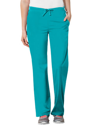Cherokee Natural-Rise Regular Fit Drawstring Pants-TEAL BLUE-XX-Large