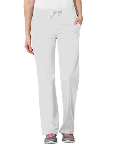 Cherokee Natural-Rise Regular Fit Drawstring Pants-WHITE-Medium