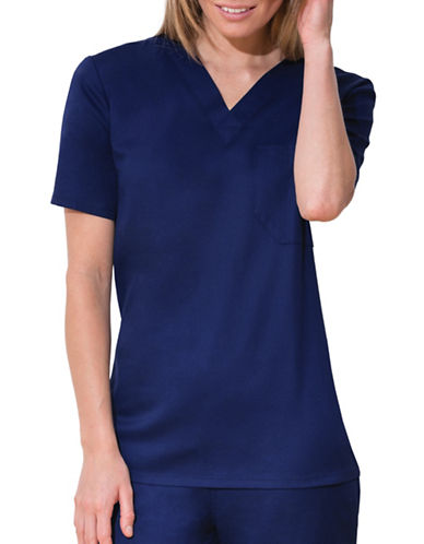 Cherokee Unisex V-Neck Top-NAVY-Medium