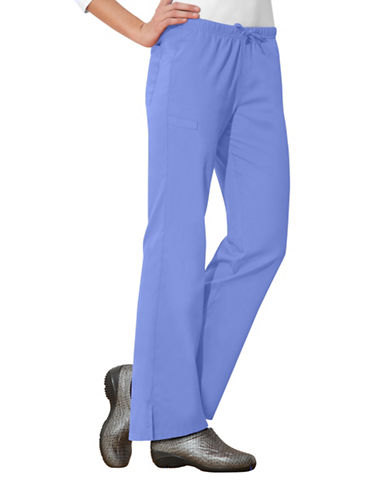 Cherokee Moderate Flare Leg Pants-CIEL BLUE-X-Small