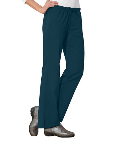 Cherokee Moderate Flare Leg Pants-CARRIBEAN BLUE-X-Large