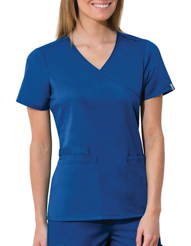 Cherokee Mock Wrap Top-ROYAL BLUE-Medium