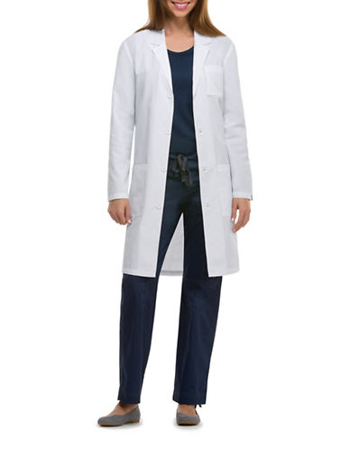 Dickies Antimicrobial 40-Inch Lab Coat-WHITE-X-Large