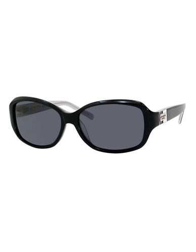Kate Spade New York Annika Square Sunglasses-BLACK / SILVER-One Size