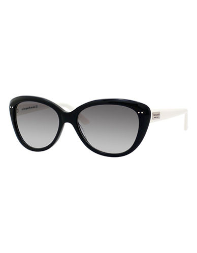 Kate Spade New York Angelique Sunglasses-BLACK CREAM-One Size