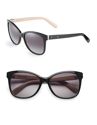 Bobbi Brown 56mm Rose Rounded Square Sunglasses-BLACK NUDE-One Size