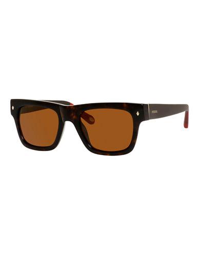 Fossil Plastic Square Sunglasses-DARK HAVANA-One Size