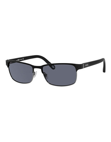Fossil Metal Square Aviator-BLACK-One Size