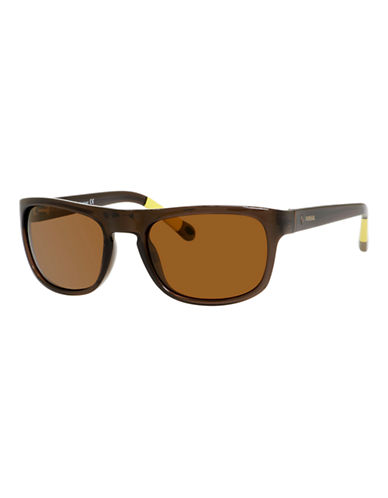 Fossil Plastic Sunglasses-BROWN-One Size