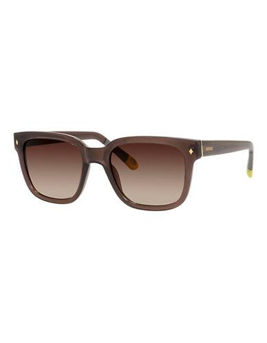 Fossil Contrast Wayfarer Sunglasses-BROWN-One Size