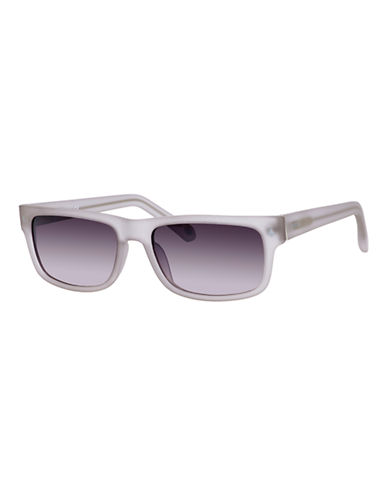 Fossil Contrast Wayfarer Sunglasses-GREY-One Size