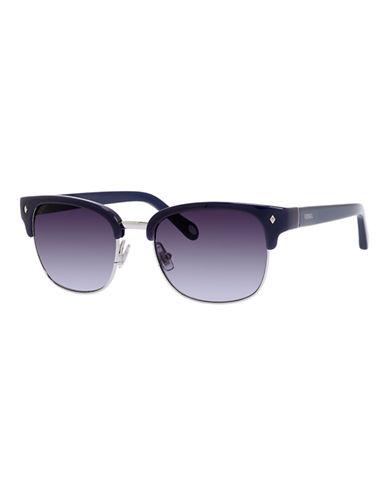 Fossil Half Rim Wayfarer Sunglasses-NAVY-One Size