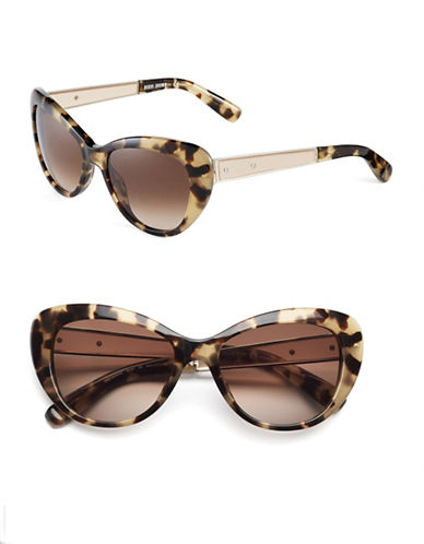 Bobbi Brown 54mm Anna Round Cat-Eye Sunglasses-CAMEL TORTOISE-One Size
