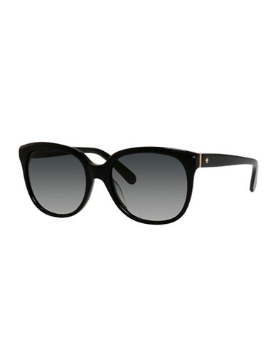 Kate Spade New York Bayleigh Sunglasses-BLACK-One Size