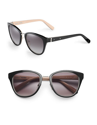 Bobbi Brown 53mm Rowan Bridge Cat-Eye Sunglasses-BLACK-One Size