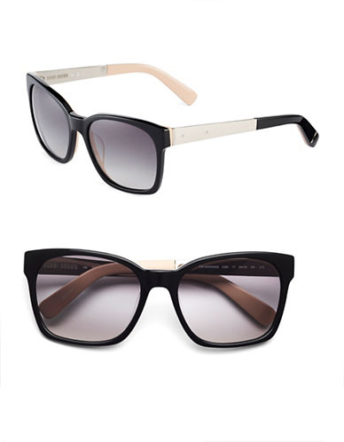 Bobbi Brown 55mm Morgan Contrast Square Sunglasses-BLACK NUDE-One Size