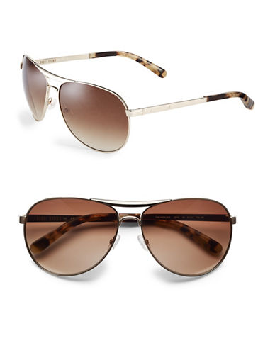 Bobbi Brown 61mm Natalie Aviator Sunglasses-LIGHT GOLD-One Size