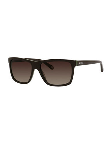 Fossil Classic Wayfarer Sunglasses-BROWN/GREEN-One Size