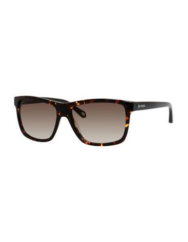 Fossil Classic Wayfarer Sunglasses-HAVANA BROWN-One Size