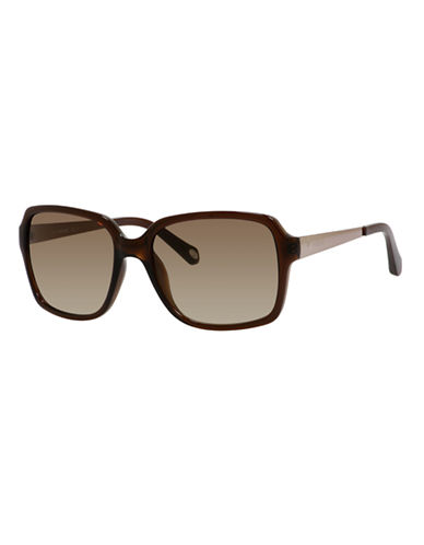 Fossil Square 3030 Sunglasses-TRANSPARENT BROWN-One Size