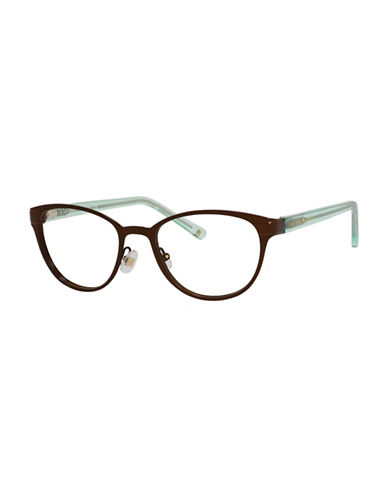 Kate Spade New York Ebba 50mm Oval Reading Glasses-BROWN-1