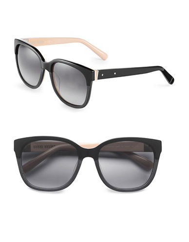 Bobbi Brown 56mm Gretta Two-Tone Square Sunglasses-BLACK NUDE-One Size