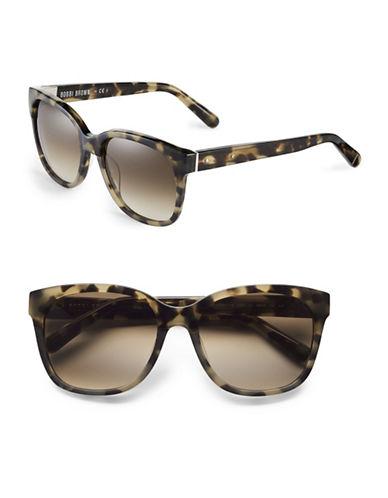 Bobbi Brown 56mm Gretta Two-Tone Square Sunglasses-KHAKI TORTOISE-One Size