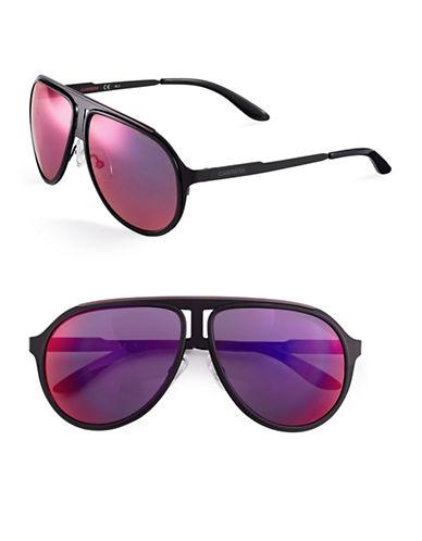 Carrera 58mm Double Bridge Sunglasses-BLACK RUTHENIUM-One Size