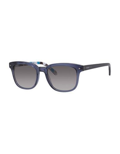 Fossil Colourful Wayfarer Sunglasses-BLUE-One Size