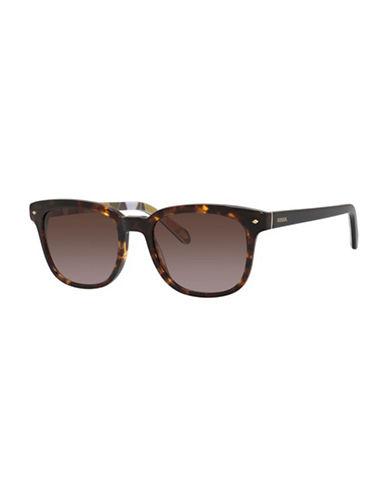 Fossil Colourful Wayfarer Sunglasses-HAVANA-One Size