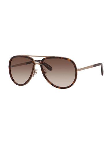 Kate Spade New York Makenzie 58mm Aviator Sunglasses-BROWN-One Size