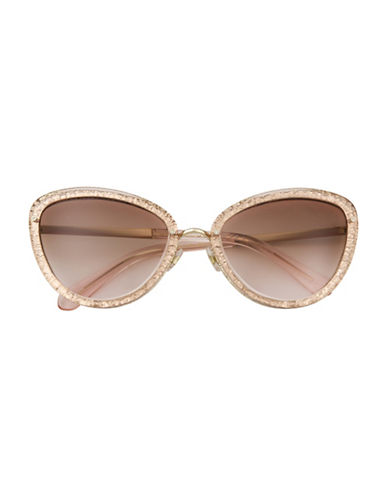 Kate Spade New York Cat Eye 57mm Sunglasses-PINK-One Size