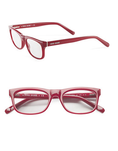 Bobbi Brown The Soho 50mm Reading Glasses-BURNT RED-2.5