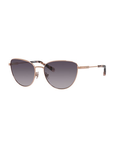 Fossil 58mm Cat-Eye Aviator Sunglasses-ROSE GOLD-One Size