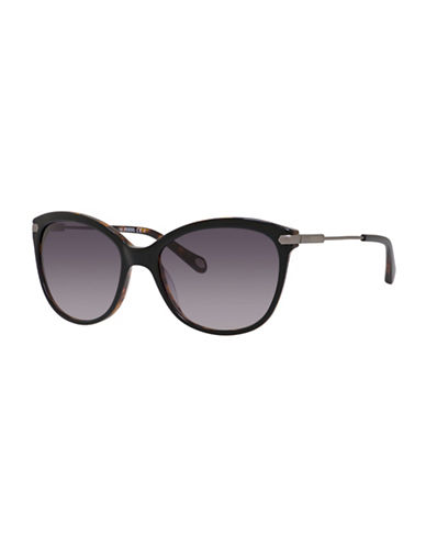 Fossil 56mm Round Combo Sunglasses-BLACK-One Size
