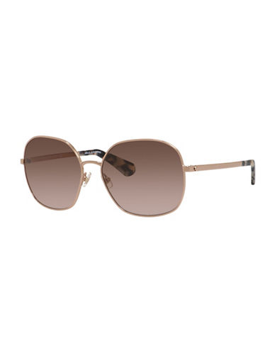 Kate Spade New York 56mm Bright and Bold Round Sunglasses-LIGHT GOLD-One Size