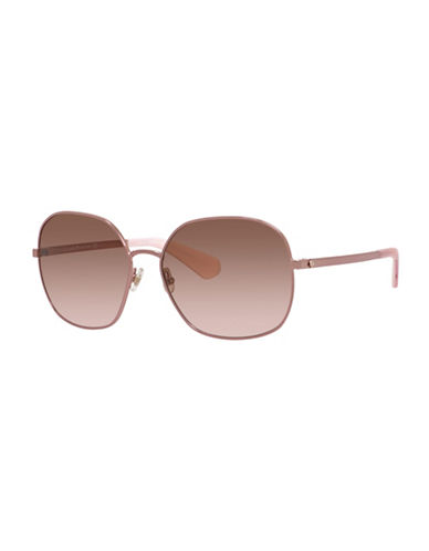 Kate Spade New York 56mm Bright and Bold Round Sunglasses-PINK-One Size