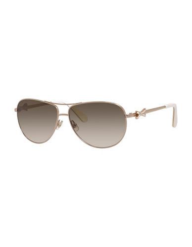 Kate Spade New York 59mm Classic Aviator Sunglasses-LIGHT GOLD-One Size