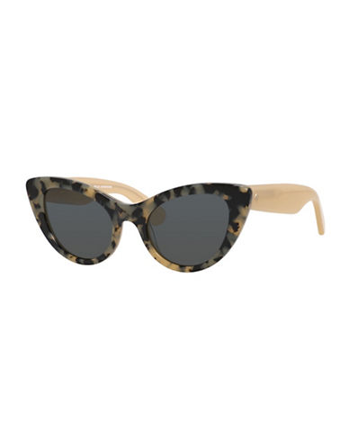 Kate Spade New York 50mm Bright and Bold Cat-Eye Sunglasses-HAVANA/BEIGE-One Size