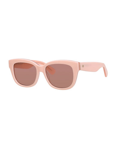 Kate Spade New York 53mm Bright and Bold Rectangular Sunglasses-PINK-One Size
