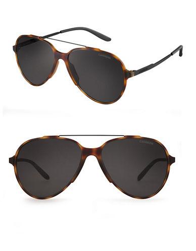 Carrera 57mm Aviator Sunglasses-BLACK-One Size
