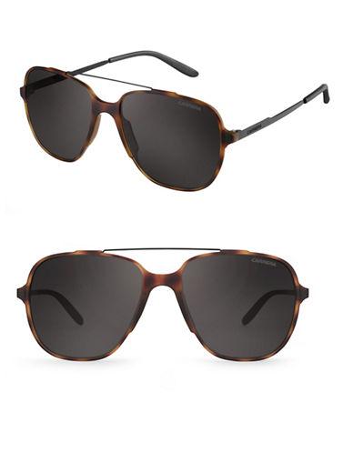 Carrera 55mm Tortoiseshell Aviator Sunglasses-BLACK-One Size
