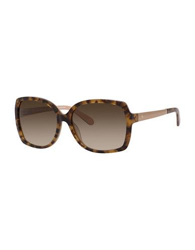 Kate Spade New York 58MM Square Sunglasses-HAVANA-One Size