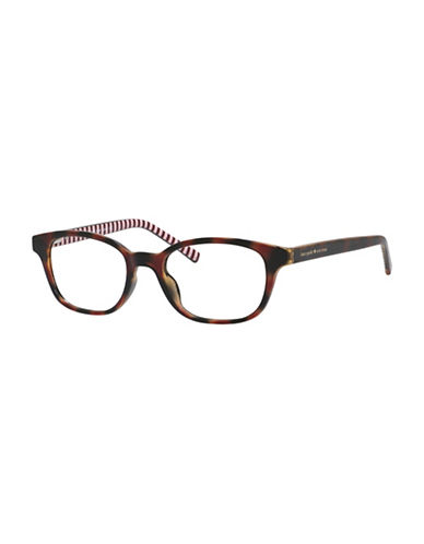 Kate Spade New York Kya 49mm Rectangle Reading Glasses-BROWN-1