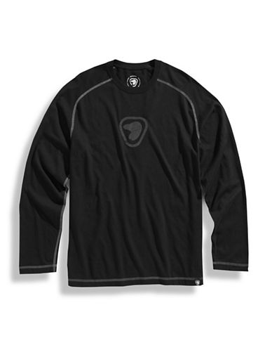 PARKS CANADA ORIGINAL Parks Canada Raglan Shirt with Flocked Logo - BLACK - X-Large
