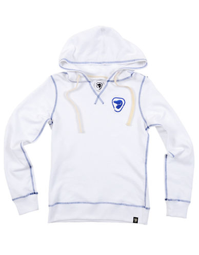 Parks Canada Original Womens Split Neck Hoodie with Embroidered Beaver Logo-WHITE-Small 87022431_WHITE_Small