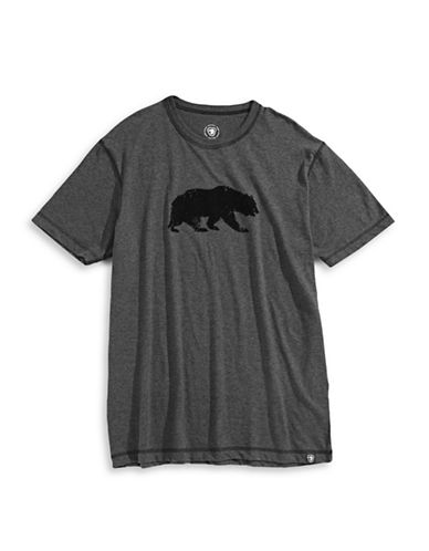 Parks Canada Original Plus Flocked Grizzly Heathered T-Shirt-GREY-Small 87540605_GREY_Small