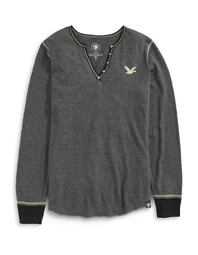 Parks Canada Original Stitched Snow Goose Thermal Top-GREY-X-Small 87880831_GREY_X-Small